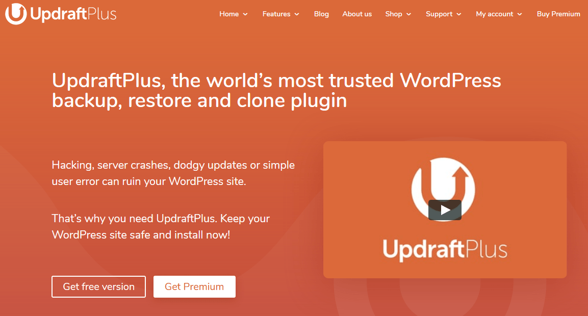 UpdraftPlus Most Trusted WordPress Backup Plugin