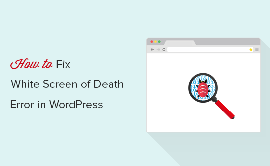 white screen of death wordpress